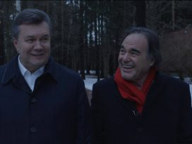 Director Oliver Stone with Victor Yanukovych.