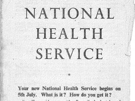 The New National Health Service leaflet from 1948