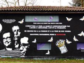 Mural for Charlie Hebdo cartoonists