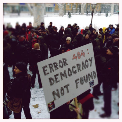 Anti-ACTA activists in Zagreb