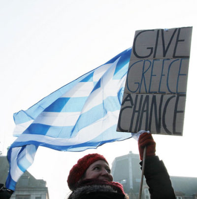 Protest in solidarity with Greece