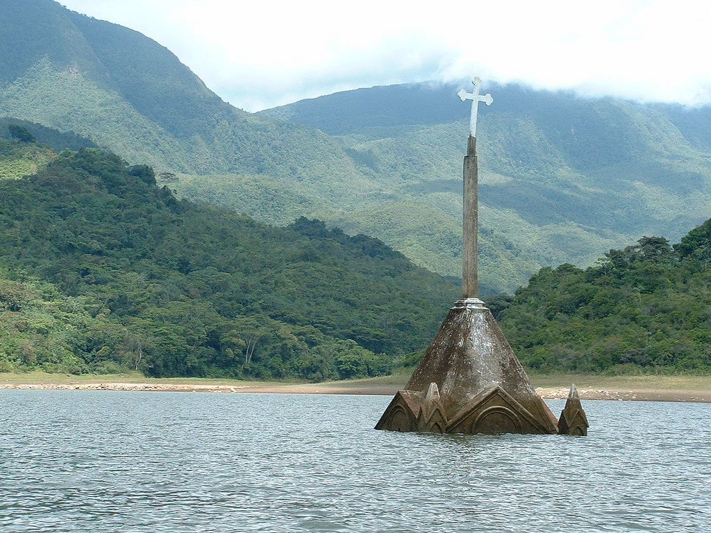 Flooded church in Venezuela