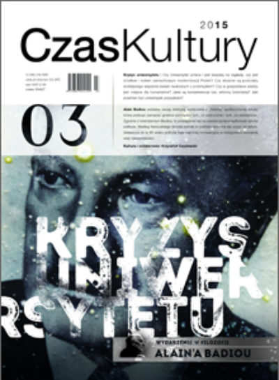 Cover for: New Eurozine partner: Czas Kultury