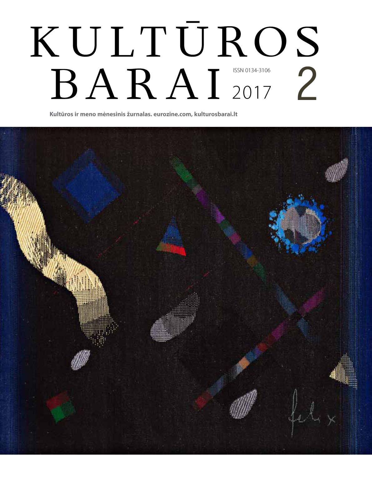 Kulturos Barai cover 2 2017