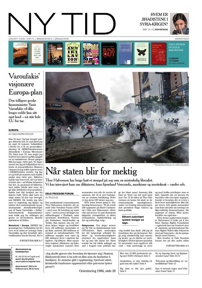 Cover of Ny Tid (Norway)
