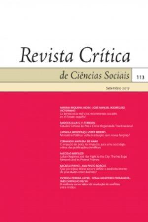 Cover of Revista Crítica de Ciências Sociais