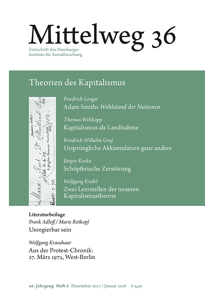 Cover of Mittelweg 36