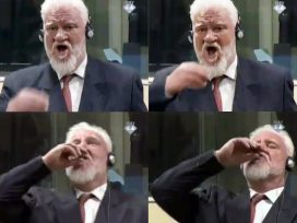 Cover for: Playing to the audience: The televised suicide of Slobodan Praljak