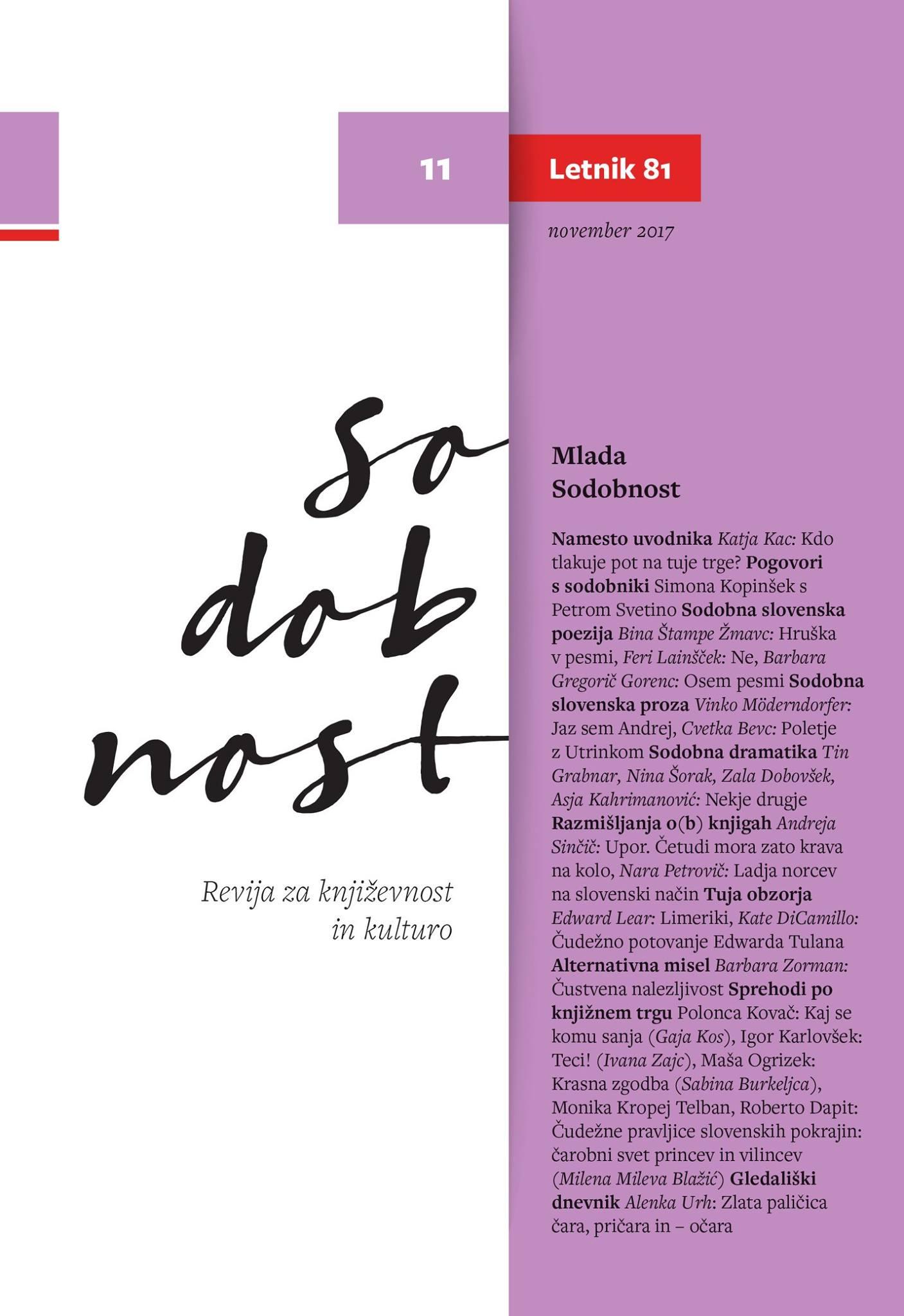 Cover of Sodobnost