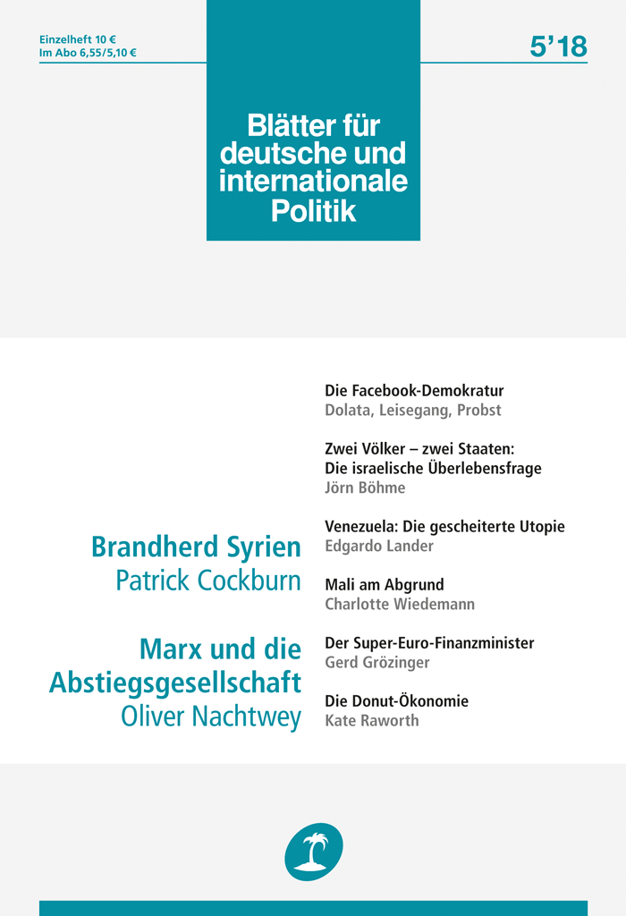 Cover of Blätter für deutsche und internationale Politik