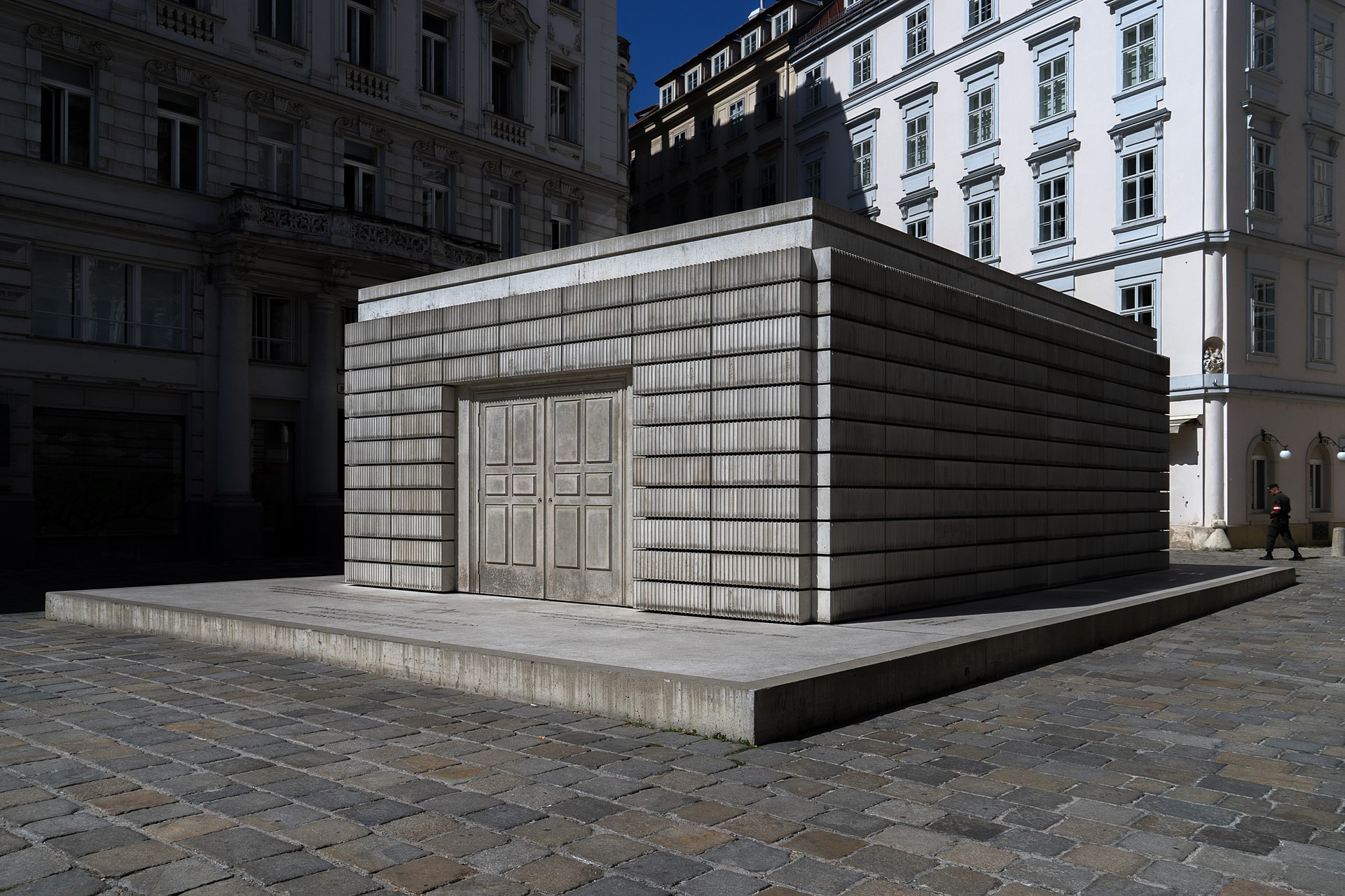 Judenplatz Holocaust Memorial in Vienna, Austria
